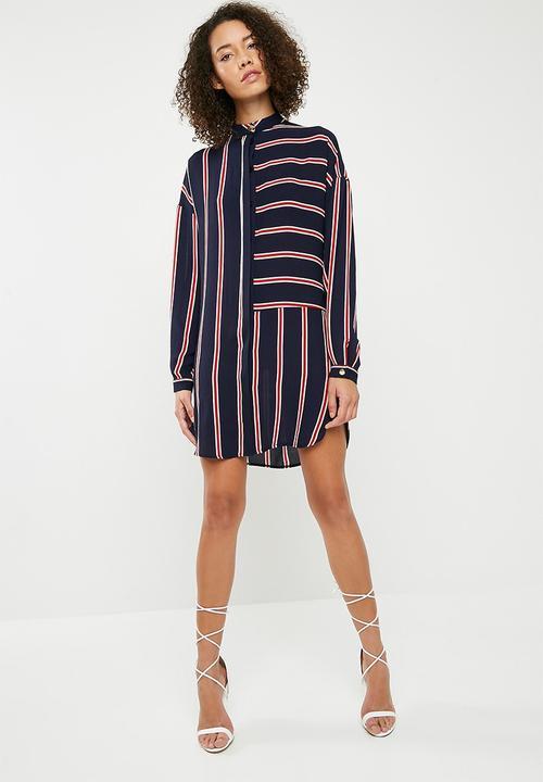 0bad9b7bbd5 Superbalist - Oversized stripe shirt dress - navy   red