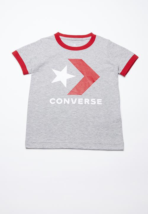 bf1577cecdfa Star chevron ringer tee - grey heather Converse Tops
