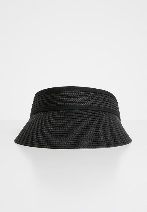 Franschoek visor - black Urban Beach Hats Headwear  de7646d9be9