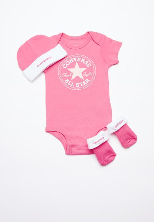 198069bc84e2 Converse A o star chevron infant set - bright pink lemonade Converse ...