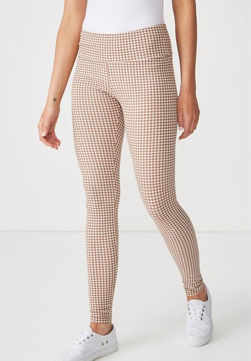 Dakota Detail Leggings White Check Cotton On Trousers Superbalist Com