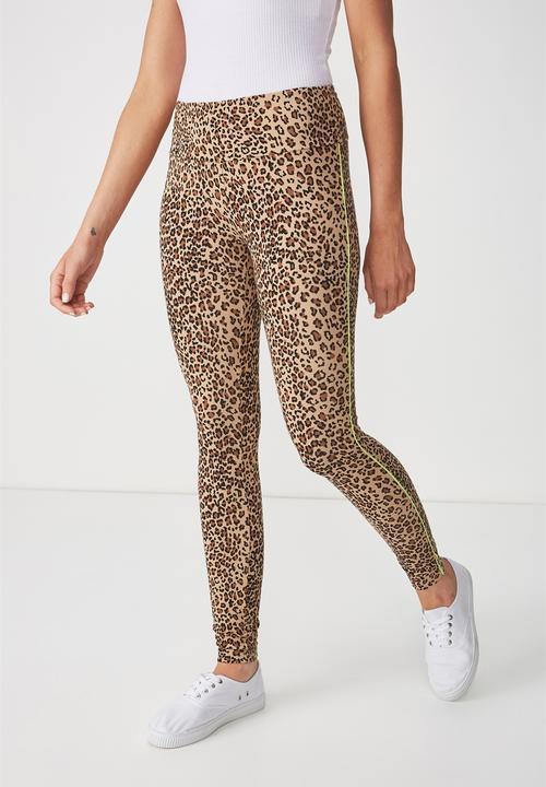 Dakota Detail Leggings Brown Cotton On Trousers Superbalist Com