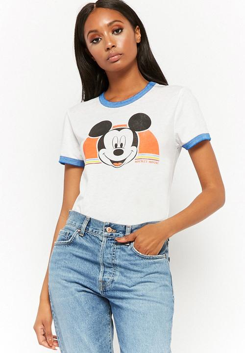 310c7b1d352 Mickey mouse T-shirt - white Forever21 T-Shirts