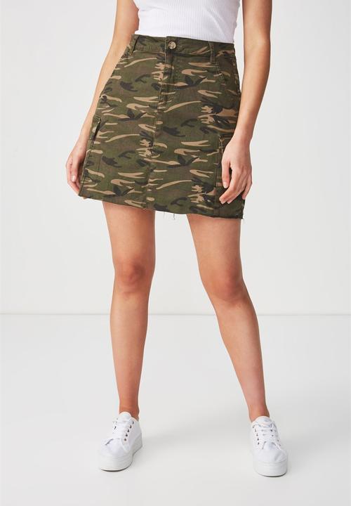 b34d6a94f653af Utility cargo mini skirt - camo Cotton On Skirts | Superbalist.com