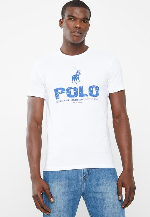 1320f7936073 Classic printed crew neck T-shirt - white POLO T-Shirts   Vests ...