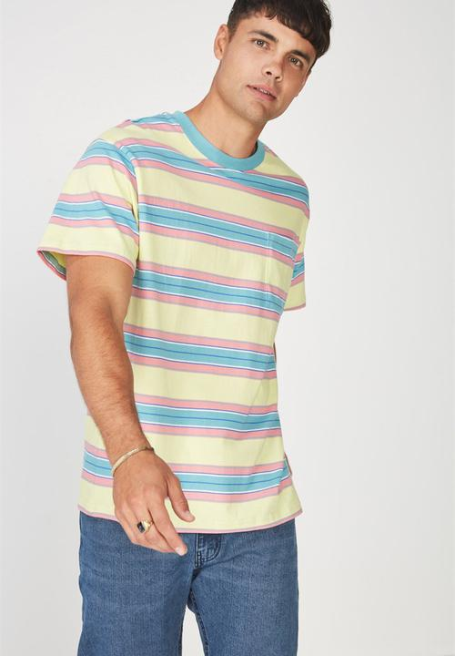 71531942c705 Dylan pink-blue stripe tee - elfin yellow Cotton On T-Shirts   Vests ...