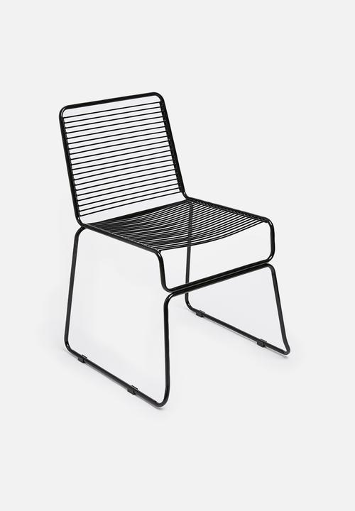 Swell Barlow Wire Chair Black Creativecarmelina Interior Chair Design Creativecarmelinacom
