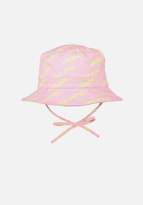 eb2a0d849b3 Kids bucket hat - pink slogan Cotton On Accessories