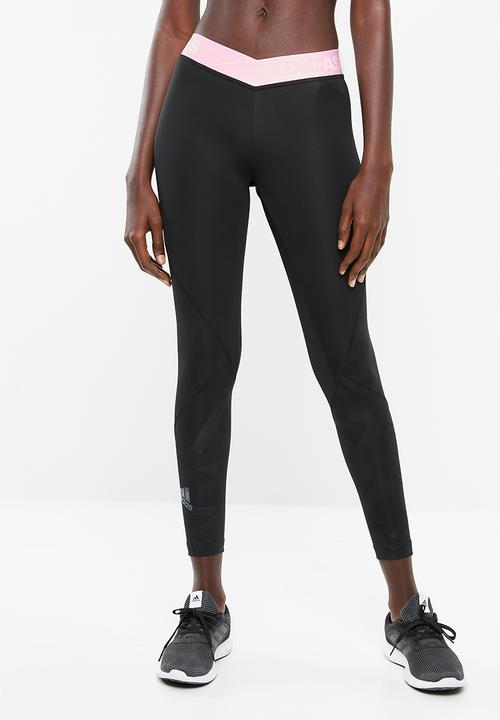 best sneakers many fashionable new products Alphaskin sport embossed tights - black