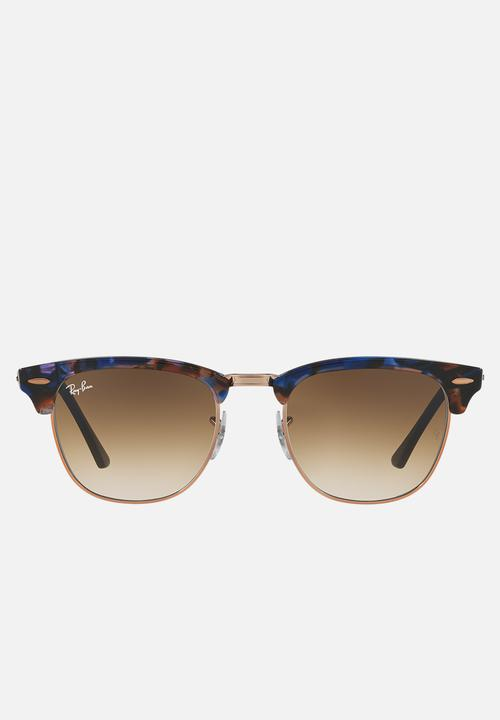 96c731b08a Clubmaster sunglasses - gradient brown spotted brown blue Ray-Ban ...