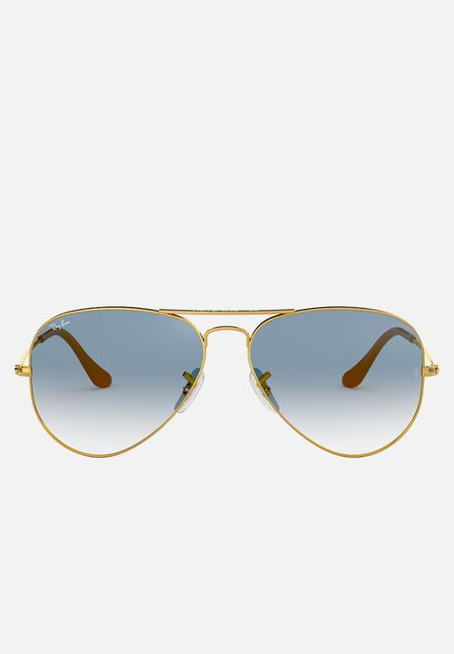 6679121265 Aviator sunglasses - gold crystal gradient light blue Ray-Ban ...