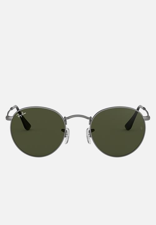 772cdd0386547 Round metal sunglasses - matte gunmetal   crystal green Ray-Ban ...