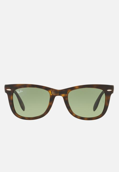 e1c036c5e78d Folding wayfarer sunglasses - matte havana green gradient Ray-Ban ...