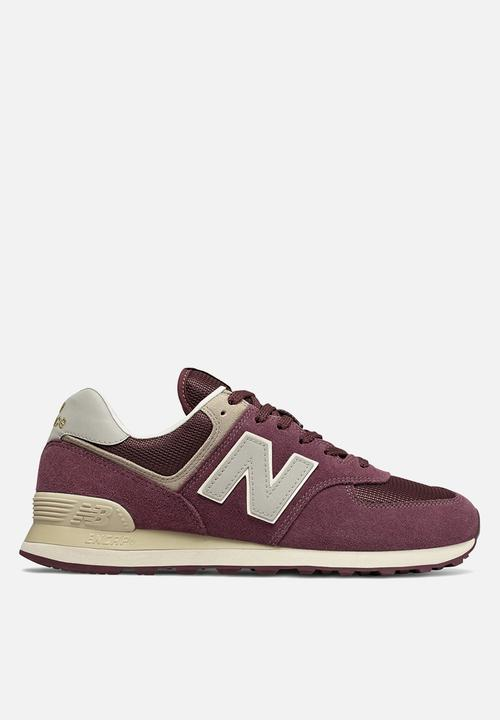 e7f0442c85323 Premium leather 574 - ML574VLB - burgundy New Balance Sneakers ...
