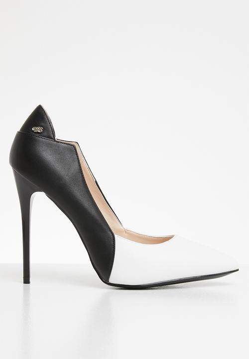 Carida court heels - black \u0026 white Miss