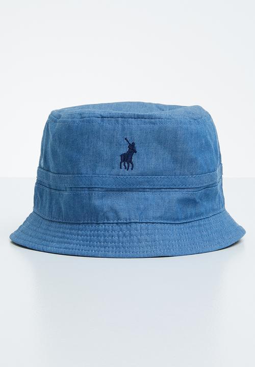 96e235d5874 Reversible bucket hat - grey   blue POLO Headwear