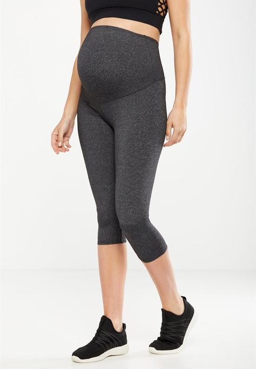 49f55ea0a069a Maternity core capri over belly tight - charcoal marle Cotton On ...