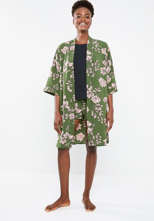 89bfd9fed5d4 Contrast robe - khaki Superbalist Sleepwear
