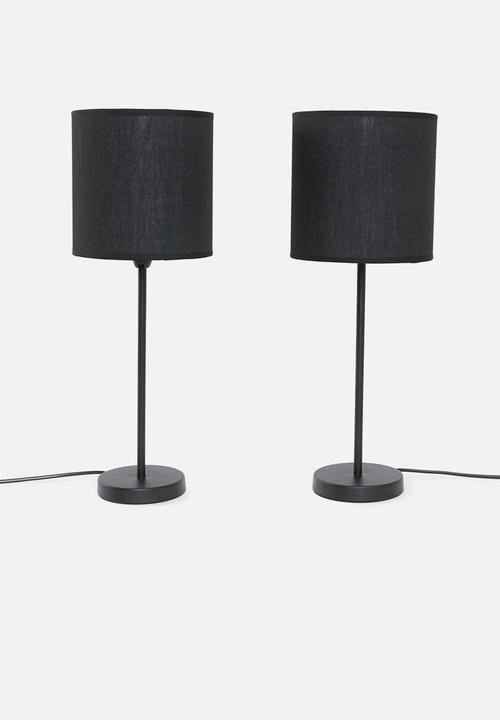 Upright Table Lamp Set Of 2 Full Black Sixth Floor Table Lamps