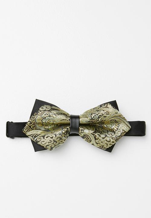 799783fc8688 Baroque print bow tie - gold Joy Collectables Ties & Bowties ...