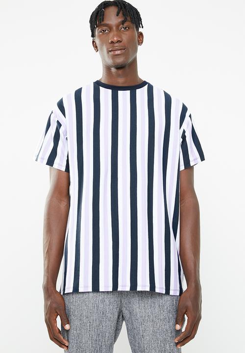 621e3ffed1 Jack short sleeve vertical stripe tee - lilac New Look T-Shirts ...