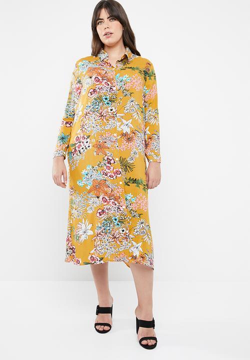 006c9d88b8 Maxi shirt dress - yellow STYLE REPUBLIC PLUS Dresses | Superbalist.com