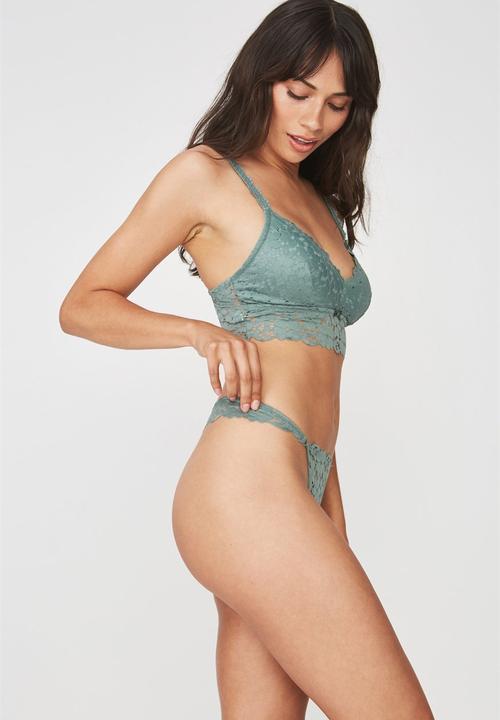 11175c78985 Hayley g string brief - fern green Cotton On Panties