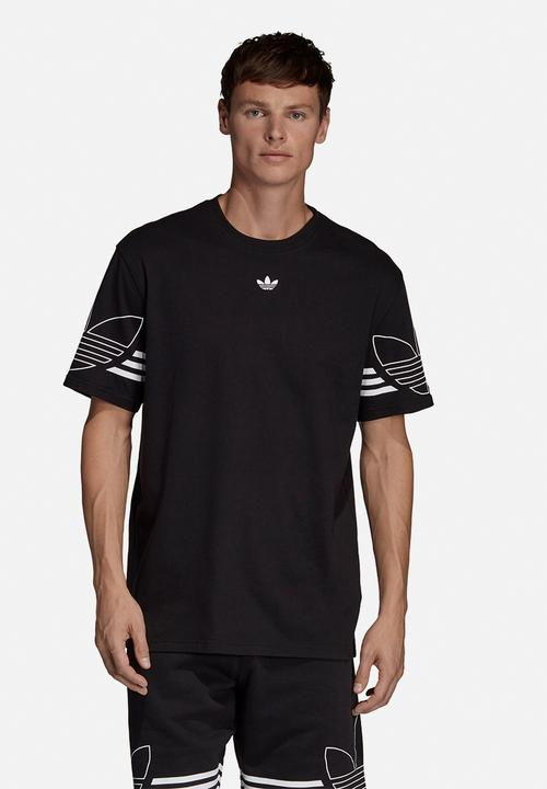 4b739ece adidas Originals - Outline short sleeve crew tee - black & white