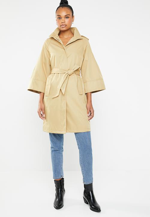 Lyon merle trench coat - camel Vero Moda Coats  2988fa765e