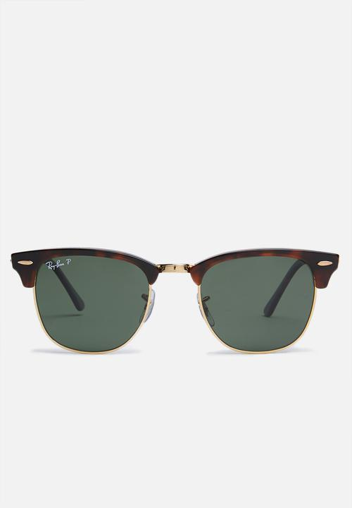d74c7d0a7 Clubmaster sunglasses - red havana/crystal green polarized Ray-Ban ...