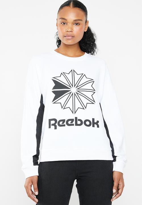1b6919b6b05f5 Classic big logo crew sweatshirt - white Reebok Classic Hoodies ...