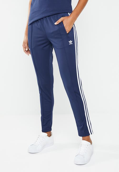 f82595c0bb Track pants side trefoil side stripes - dark blue adidas Originals ...