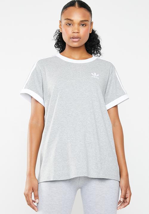 0d7750971dfda 3 Stripe tee - grey melange adidas Originals T-Shirts | Superbalist.com