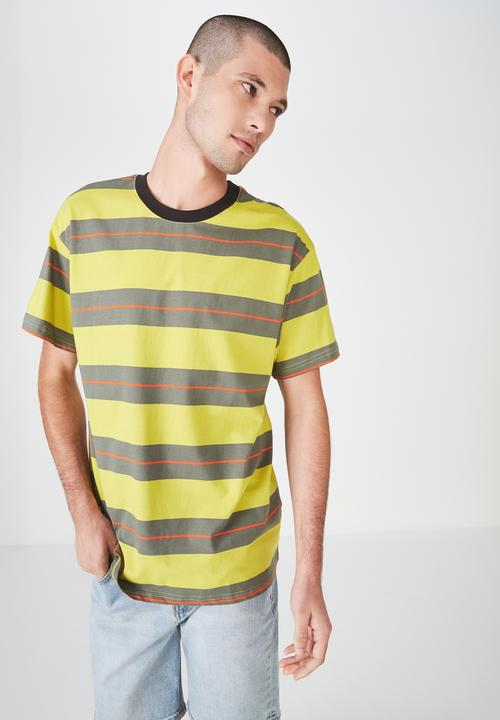 aa007d88606f Stripe Dylan tee - yellow green red Cotton On T-Shirts   Vests ...