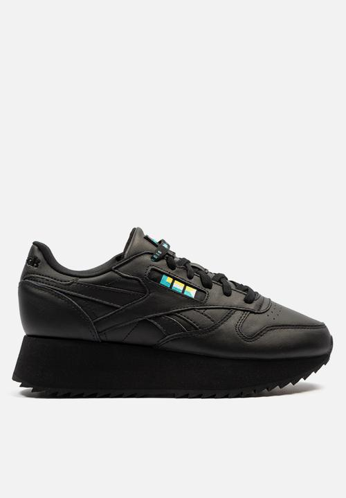 ebcefd334d7 Classic leather double - black white blue gold Reebok Classic ...