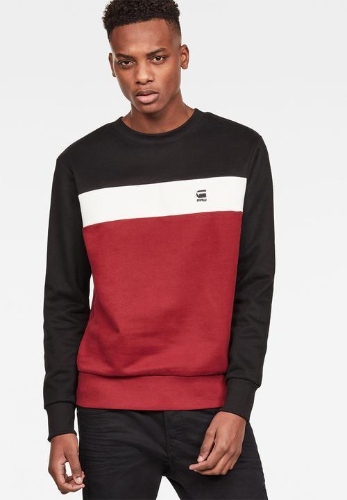90a51b878e4 Graphic 81 core slim fit sweater - red milk black G-Star RAW Hoodies ...