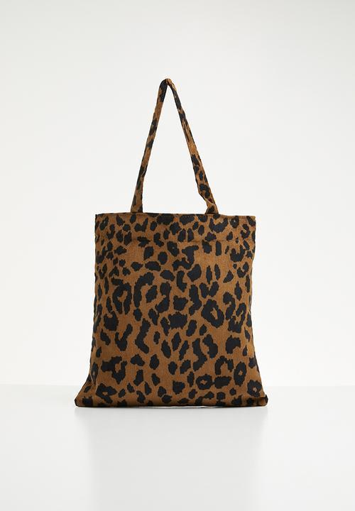 adc4653e74f1 Leopard print tote bag - brown/black Superbalist Bags & Purses ...
