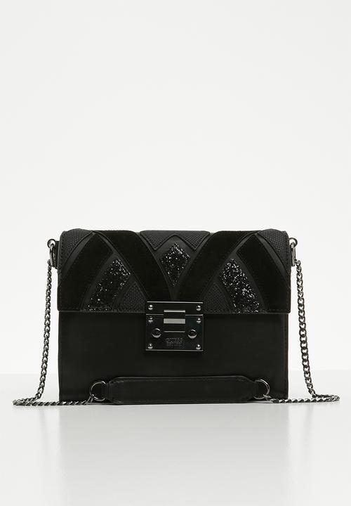 2c38615c1169 Alba convertible crossbody bag - black GUESS Bags   Purses ...
