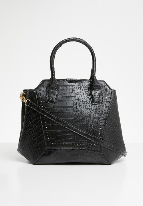 ee223f785 Black croc handbag - black Missguided Bags   Purses