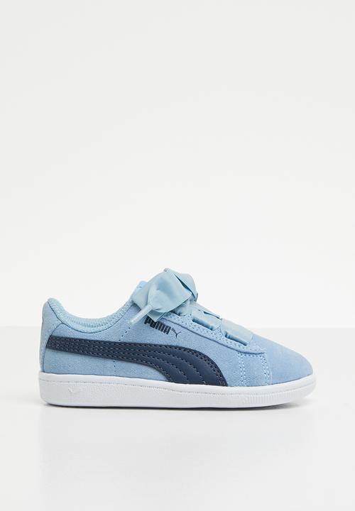 Puma Vikky Ribbon AC Infants - blue white PUMA Shoes  73c3e1fde