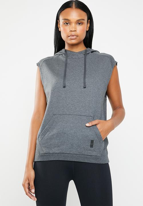 68dfb99039f4e Combat legacy sleeveless hoodie - dark grey Reebok Hoodies