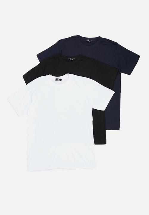 8fe60a69 3 Pack crew neck T-shirt - navy/black/white STYLE REPUBLIC T-Shirts ...