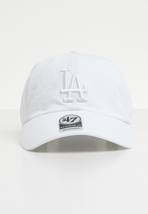 a42a71d3dfc 47 Clean up wash strapback - LA Dodgers - white 47 Brand Headwear ...