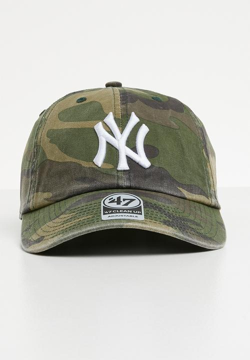 e83d63958b2ec 47 Brand - 47 Clean up adjustable strapback - NY Yankees - khaki   brown