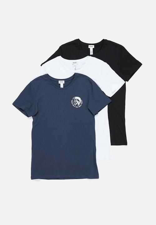0dc0e1b6 Randal crew neck 3 pack tees - navy, white & black Diesel T-Shirts ...