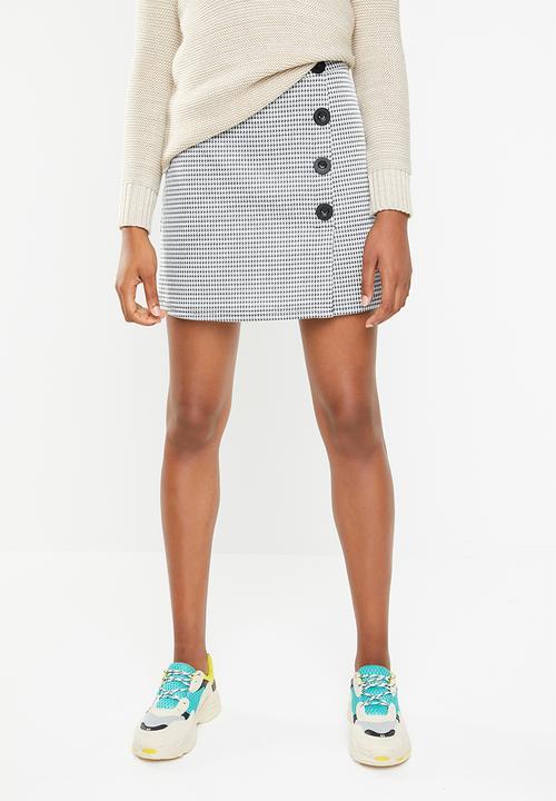 fc05ceec1 Button detail check mini skirt - black & white Superbalist Skirts ...