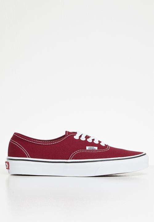 bbf35fd012 Vans authentic - rumba red   true white Vans Sneakers