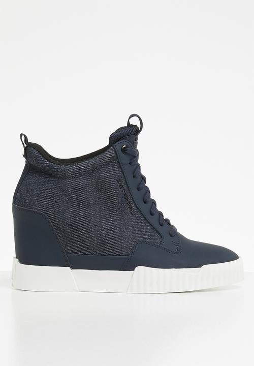 9174c6daa5f Rackam wedge sneaker - D12456-8936-6486 - dk saru blue G-Star RAW ...
