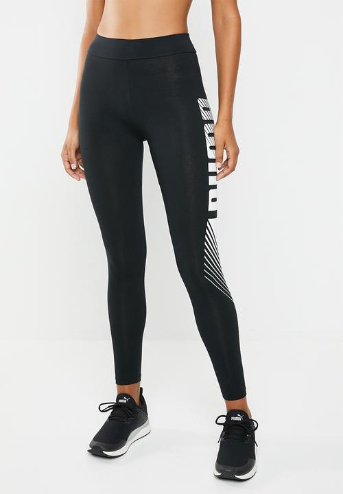 f5ec3fc84d4f Essential graphic leggings - black PUMA Bottoms