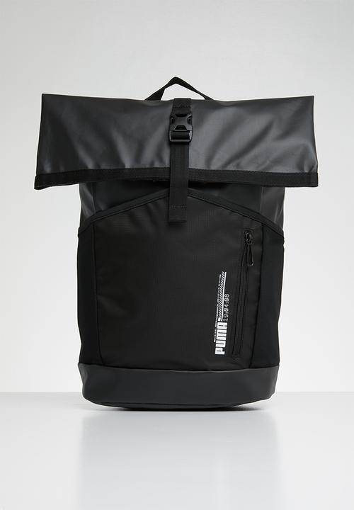 Energy roll top backpack - black PUMA Bags   Wallets  4892334f2969f